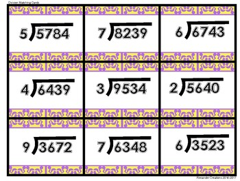 6.NS.2 Division Matching Cartds