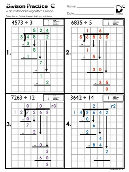 6.NS.2 Division Practice C