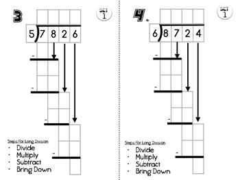 6.NS.2 Long Divison Practice Set 1