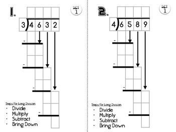 6.NS.2 Long Divison Practice Set 1