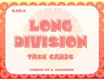 6.NS.2 Long Division Task Cards
