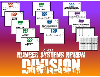 6.NS.2 Number Systems Review - Division