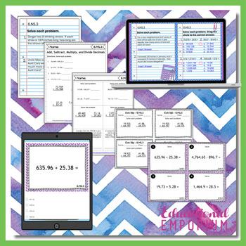 6.NS.3 Bundle ⭐ Multi-Digit Decimals