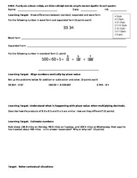 6.NS.3 CFA for Quarter 1 and Quarter 2