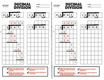 6.NS.3 Decimal Division Exit Ticket