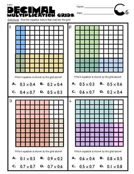6.NS.3 Decimal Multiplication Grids