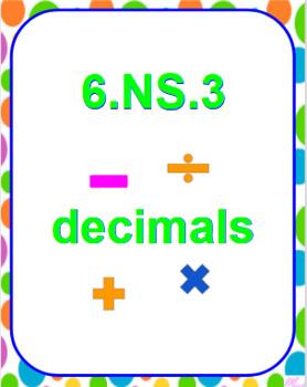 6.NS.3 Decimal Scavenger Hunt