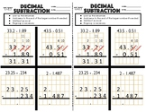 6.NS.3 Decimal Subtraction Exit Ticket