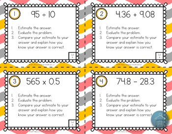6.NS.3 Operations with Decimals Task Cards - 2 Sets!