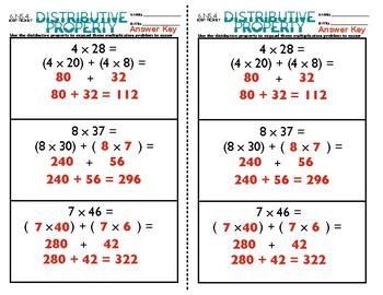 6.NS.4 Distributive Property Exit Ticket