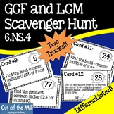 6.NS.4 GCF and LCM Scavenger Hunt