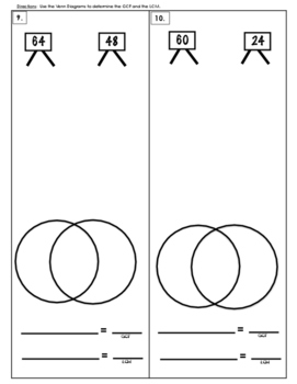 6.NS.B4 LCM using Venn Diagrams