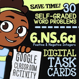 6.NS.6 Task Cards ✦ Positive & Negative Numbers on a Number Line ✦ G Classroom™