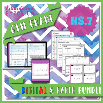 6.NS.7 Bundle ⭐ Ordering and Absolute Value