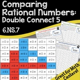 6.NS.7 No Prep Math Game Comparing Rational Numbers: Double Connect 5
