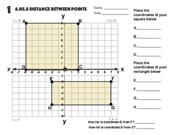 6.NS.8 Distance Between The Points