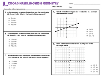 6.NS.8 and 6.G.3 Coordinate Lengths & Geometry 2