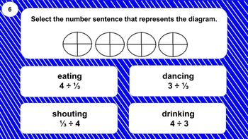 6.NS.A.1 Digital Mad Lib Math Activity (dividing fractions)