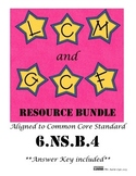 6.NS.B.4 LCM and GCF Resource Bundle
