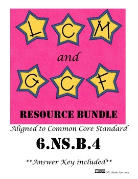 6.NS.B.4 LCM and GCF Resource Bundle