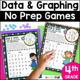 6 No Prep Games for Dot Plots & Stem-and-Leaf Plots *4th Grade TEKS* STAAR