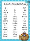 6 Noah's Ark themed Dolch Sight Word Lists. Preschool-3rd Grade Reading