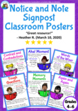 6 Notice and Note Classroom Signpost Posters