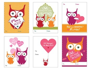 Valentine Cards {Owl Themed}