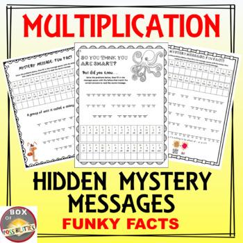 6 pack BUNDLE of hidden mystery math messages: multiplicat