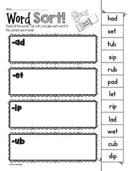 6-Pack! CVC Word Sorts