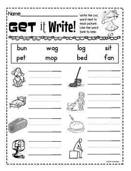 6-Pack! CVC Word Writing