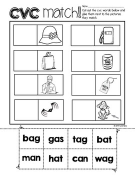6-Pack! CVC word-picture match