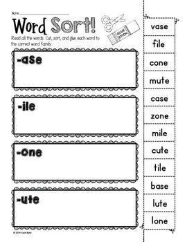 6-Pack! CVCE Word Sorts