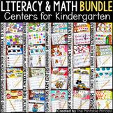 Kindergarten Centers Math and Literacy Activities 6 Pack C