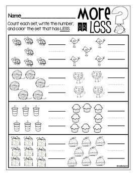 6 pack count and compare numbers less by katie byrd tpt. Black Bedroom Furniture Sets. Home Design Ideas