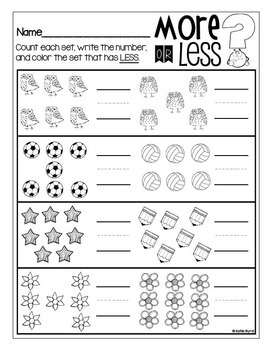 6-Pack! Count and Compare Numbers LESS