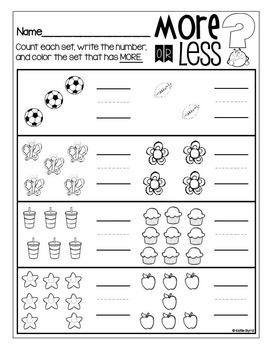 6-Pack! Count and Compare Numbers MORE