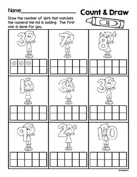 6-Pack! Count and Draw Numbers 1-10