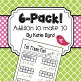 6-Pack! Addition to make 10 on Ten Frame
