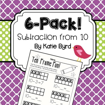6-Pack! Decomposing 10 (subtraction)