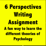 Psychology - An Engaging Writing Assignment on the Psychol