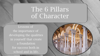 6 Pillars of Character 39 Slide PowerPoint Guidance Lesson w links to 13 videos