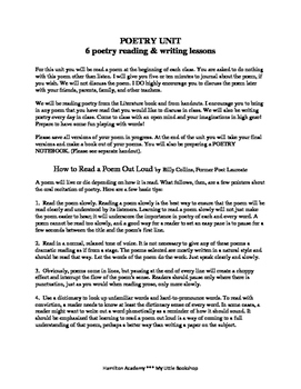 6 Poetry Lessons