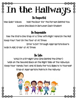 6 Positive School Culture Posters - Be Respectful, Responsible & Safe