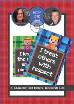6 Posters - Character Traits - Blockcraft Kids
