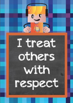 Posters - Character Traits - Blockcraft Kids