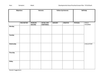 6 Preschool Lesson Plan Templates to Suit All Styles and Approaches