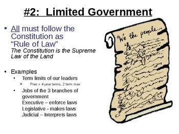 6 Principles of the Constitution Slide Show by Social Studies ...