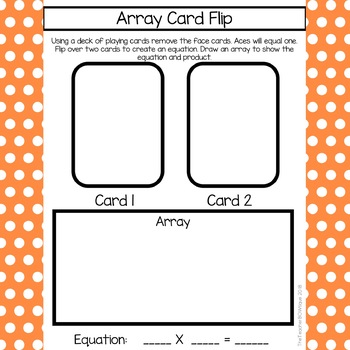 6 Print and Go Multiplication Math Games: Array Strategy