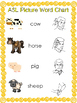 6 Printable ASL Alphabet and Word Posters.  Preschool and Elementary Posters.